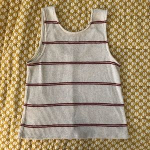 af2ccc09dd9eba Madewell Tops - Madewell Ribbed Button-Front Tank Top in Stripe